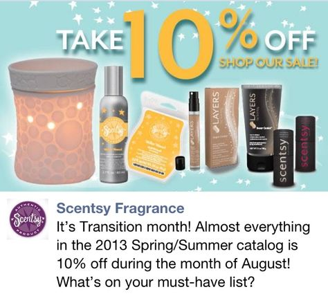 10% off in August