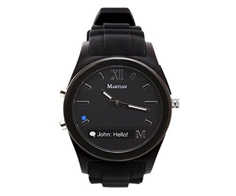 Martian Notifier Smartwatch T200 For Android IOS Black