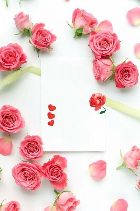 Bouquet De Flores De Rosas Fundo Rosa Buque De Flores Arranjos
