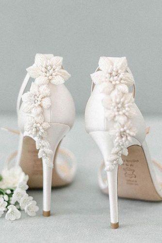 24 Elegant White Wedding Shoes Wedding Forward Elegant Wedding Shoes White Wedding Shoes White Heels Wedding