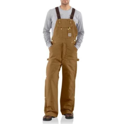 Carhartt® Men's Quilt Lined Zip To Thigh Bib Overalls - Tractor Supply Co.