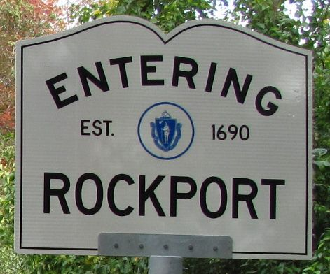 Rockport Massachusetts Town Line Sign Rockport Massachusetts