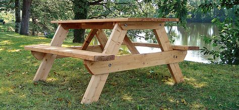 Fabriquer une table de pique-nique | PICNIC TABLE en 2019 ...