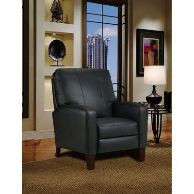 Southern Motion Breckenridge Leather Hi Leg Recliner Body Fabric