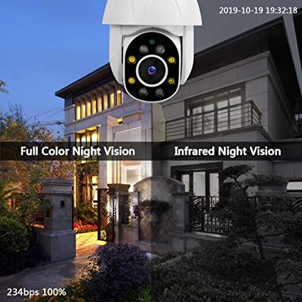 Ptz Dome Security Camera Outdoor Wireless Pan Tilt Ip Camera Security Camera Night Vision Ip Camera