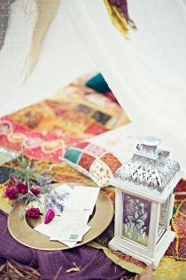 Moroccan lanterns complete the look.