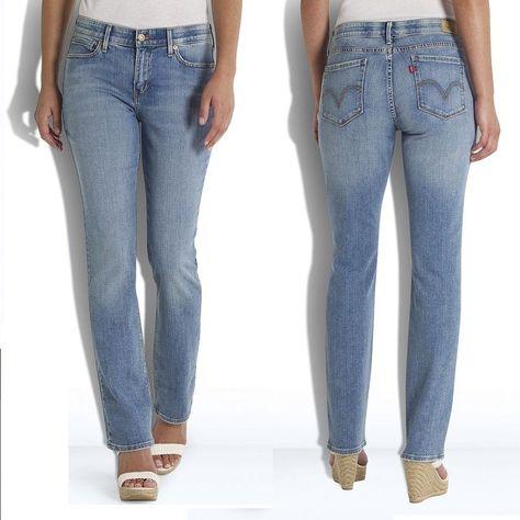 3038f416 Details about Women's Levi's 525 Perfect Waist Straight-Leg Jeans - Sizes  4-16 Short & Medium   Men's Levi's jeans, pants,shorts   Jeans, Petite,  Trousers