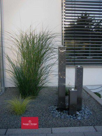 Gartenbrunnen Edelstahl #garten #wasserspiele #landscape #design - Steingarten Mit Springbrunnen