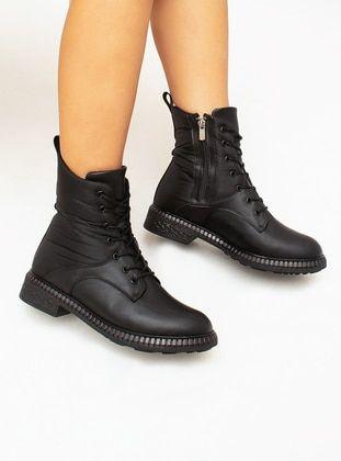 أسود بوت جزمة بوتات Black Boots Boots Combat Boots