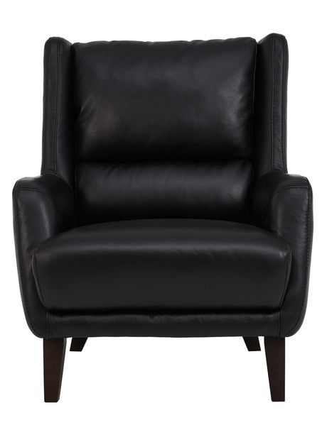 Luca Marlow Chair Leather Black 11601 Chair Living Furniture Living Room Furniture Chairs