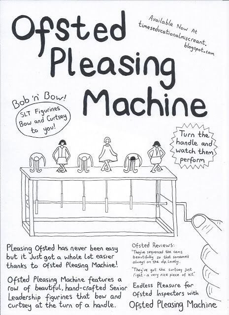 The Ofsted Pleasing Machine Teaching Humor Teacher Humor