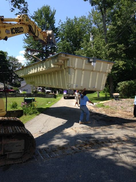 Lift Off Transporting To The New Home Pool Installation
