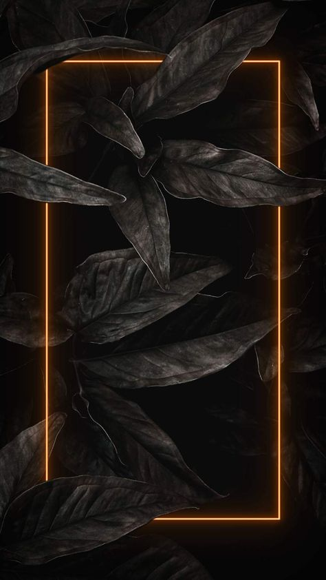 Black Nature Neon - iPhone Wallpapers