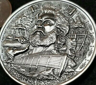 Noah Two By Two Off The Ark 1 Troy Ounce Of 99 9 Fine Antiqued Silver In 2020 Antique Silver Antique Coins Two By Two