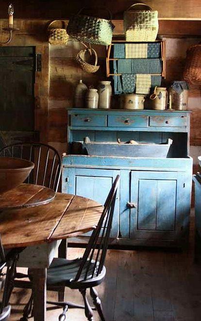 blue dry sink