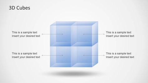 Transparent 3D Cubes for PowerPoint Cube, Template and 3d - 3d powerpoint template