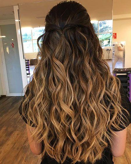 15 Longs cheveux bouclés Ombre