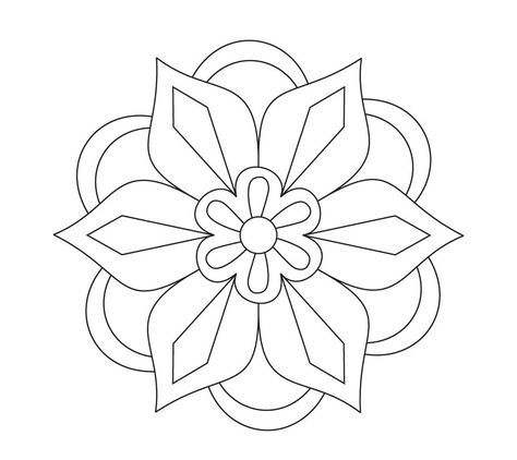 Diwali Rangoli Coloring Pages Free Printable Rangoli Coloring