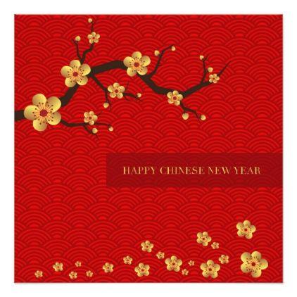 Happy Chinese New Year Holiday Card Zazzle Com In 2021 Chinese New Year Background Chinese New Year Card Happy Chinese New Year