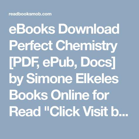 Perfect Chemistry Simone Elkeles Ebook