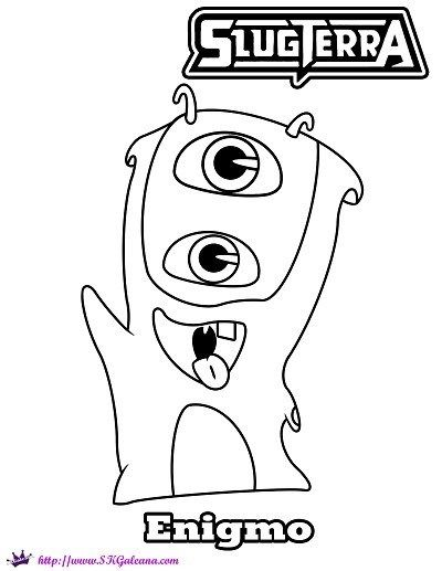 Mo The Enigmo Slug Coloring Page From Disney S Xd Slugterra Coloring Pages Printable Coloring Pages Free Coloring Pages