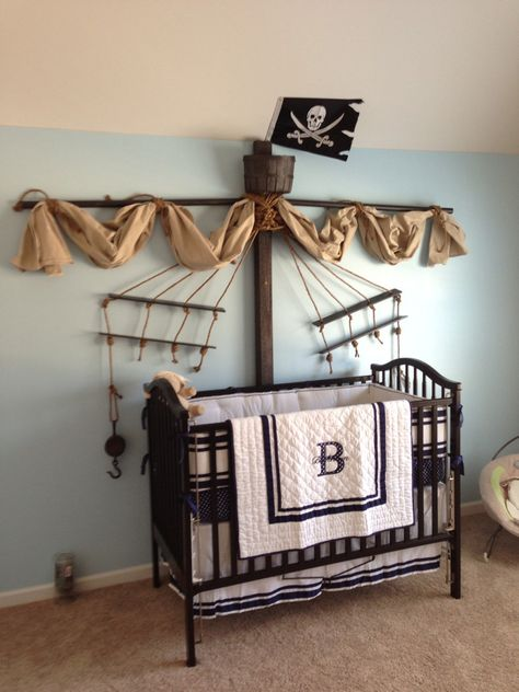 """pirate themed nursery Decorative Bedroom. The """"B"""" is perfect!"""