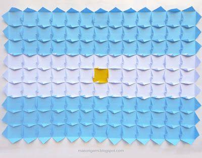 Origami Bandera Argentina Plegada En Papel Bandera Argentina Banderas De Papel Imagenes De Banderas