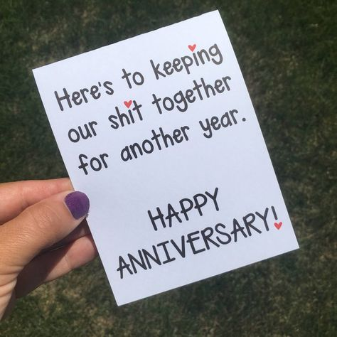 Funny work anniversary quotes anniversary cards what to say in a work anniv Anniversary Quotes For Husband, Anniversary Quotes For Him, Funny Anniversary Cards, Wedding Anniversary Gifts, Anniversary Cards For Boyfriend, Anniversary Crafts, Anniversary Surprise For Him, Cricut Anniversary Card, Anniversary Gift Ideas For Him Diy
