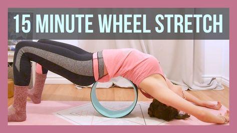 Yoga Prop Wheel Pilates Loop Yoga Pilates Circle TPE Yoga Fitness Roller Wheel Back Training Tool Slimming Magic Waist Shape Pilates Ring TOPVORK Yoga Wheel