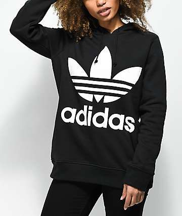 Light Blue Black Adidas Hoodie In Trefoil Logo 2019Jackets CtQdrhxBos