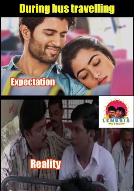Lemuria Memes During Bus Travelling Expectation And Reality Vi Vadivelu Memes Memes Funny Jokes