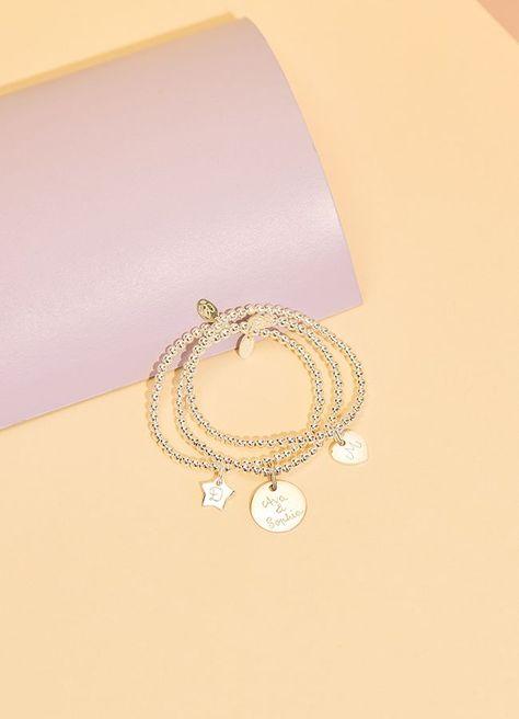 Match your little one with our New Personalised Beaded Bracelet! #kidsjewellery #beadedbracelet