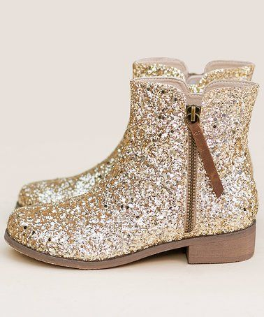 zulily! Gold Kaitlin Ankle Boot
