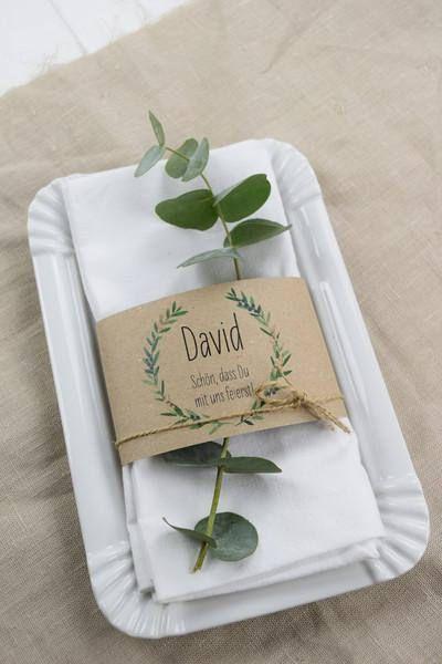 Place Card Napkins Banderole Wacholder Love Wedding Name Card Wedding Place Card Wedding Square Card Printed Servietten Hochzeit Tischkarten Hochzeit Hochzeit Orte