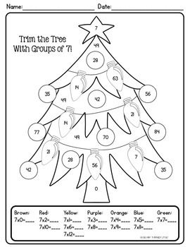Christmas Winter Color By Number Make Multiplication Fun This Holiday Season Multiplication Fun Math Pages Winter Colors
