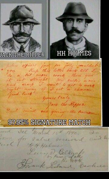 comparison hh holmes jack the ripper