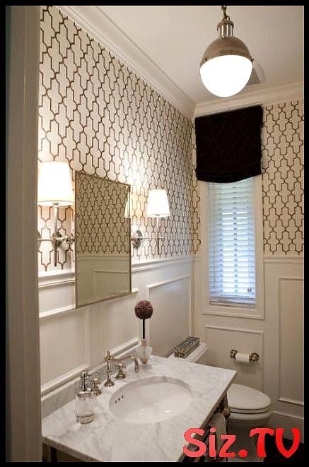 55 Ideas Wallpaper Accent Wall Bathroom Half Baths Sconces 55 Ideas Wallpaper Accent Wall B Small Bathroom Inspiration Bathroom Design Small Room Paint Designs