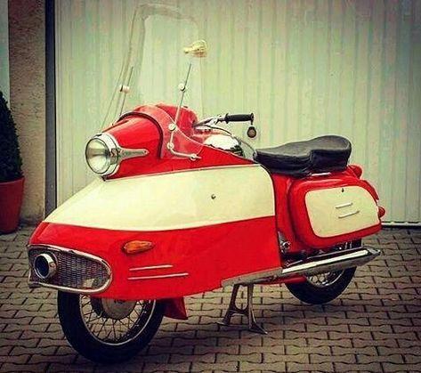 1962 Jawa 350 Type 354 Police Vehicle Motorcycle Retro Scooter Motorcycle Design