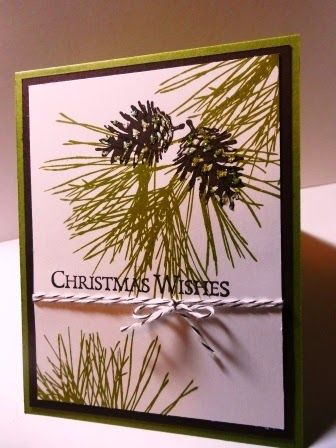 371-PENNY TOKENS STAMPIN SPOT: Ornamental Pines Christmas Card http://pennytokensstampinspot.blogspot.com/2014/12/ornamental-pines-christmas-card.html