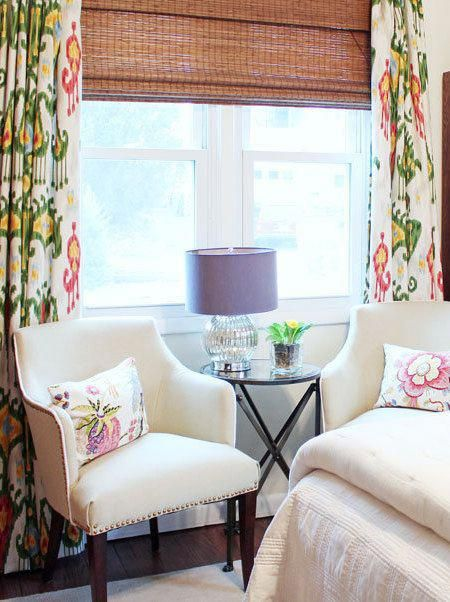 Pink Green Curtains Custom Ikat Robert Allen Extra Long Extra Wide Colorful Curtains Valence Green Pink Yellow Green Curtains White Curtains Colorful Curtains