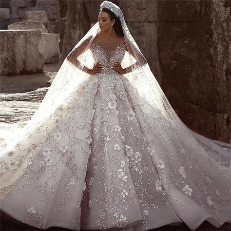 Wedding Dress Prices, Sheer Wedding Dress, Top Wedding Dresses, Luxury Wedding Dress, Formal Dresses For Weddings, Bridal Dresses, Formal Wedding, Royal Wedding Gowns, Royal Ball Gowns