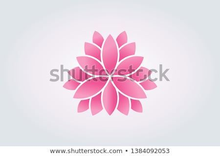Lotus Flower Watercolor Style Vector Logo Yoga Lotus Meditation Vector Illustration Symbol Zen Buddh Lotus Flower Logo Vector Logo Watercolor Flowers
