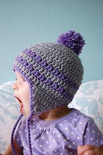 Alli Crafts: Free Pattern: Earflap Hat - 9-12 Months