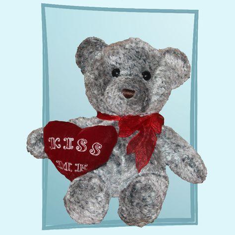 Walmart Grey Valentineu0027s Day Teddy Bear With Kiss Me Heart Plush | Walmart  Plush | Pinterest | Walmart, Teddy Bear And Plush