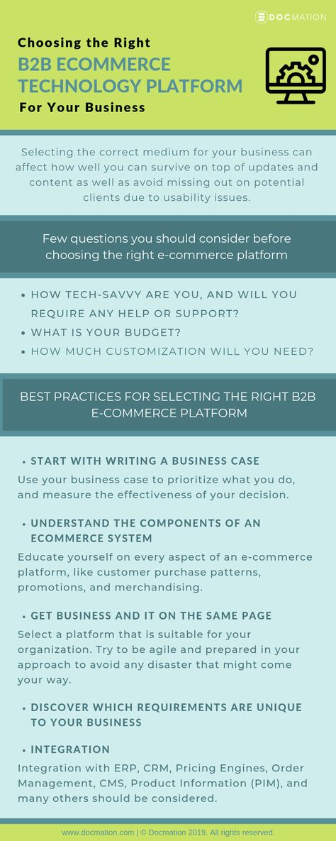 Choosing the Right B2B Ecommerce Technology Platform for Your Business