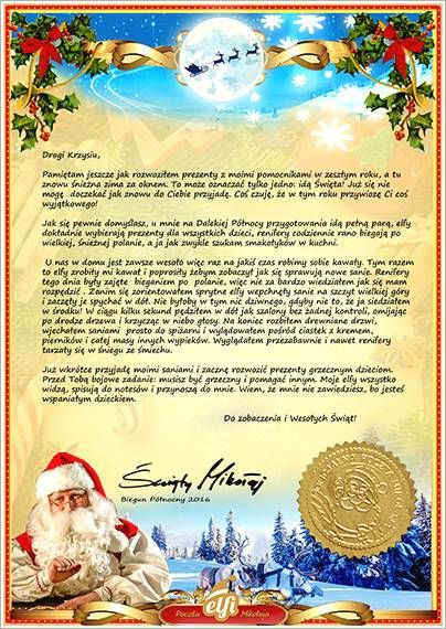 Letter From Santa Template Word Free Santa Letters Download