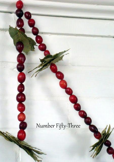 Diy Cranberry Bay Leaf Garland Beaded Garland Winter Holiday Crafts Leaf Garland