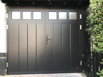 Glazed, Side Hinged Garage Doors London- Cerberus Doors UK | Door ...
