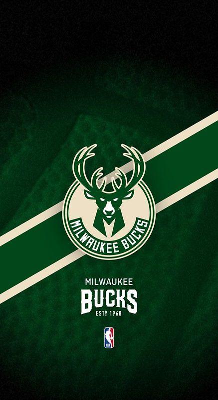 Milwaukee Bucks Nba Iphone X Xs 11 Android Lock Screen Wallpaper Milwaukee Bucks Bucks Logo Nba