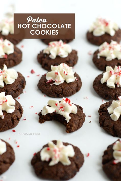 Hot Chocolate Cookies  + A Healthy Holiday Cookie Round-Up! by @fitfoodiefinds #paleo